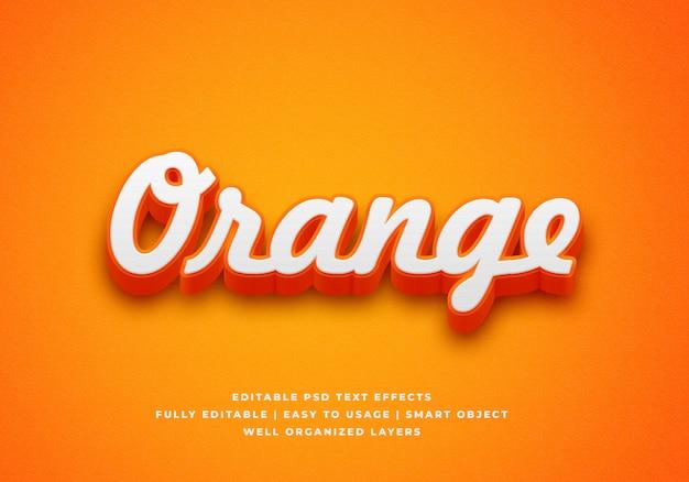 Effet de style de texte orange 3d
