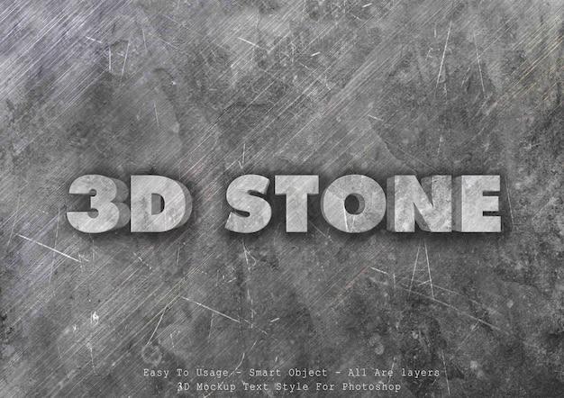 Effet de style de texte de pierre 3d