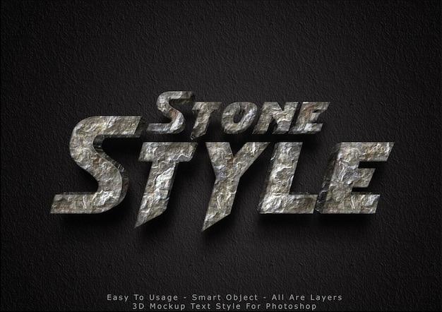 Effet de style de texte en pierre de maquette 3d
