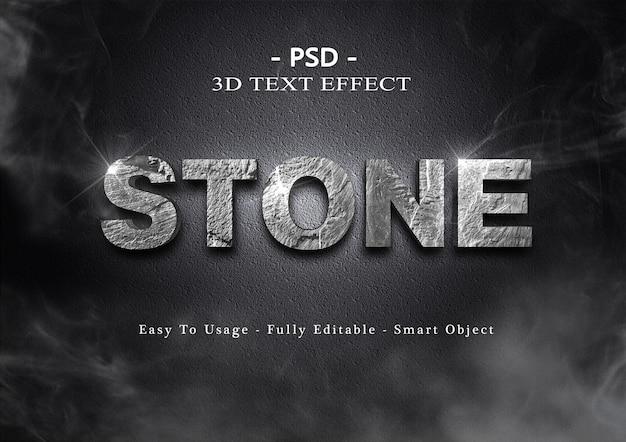 Effet de style de texte en pierre noire 3d
