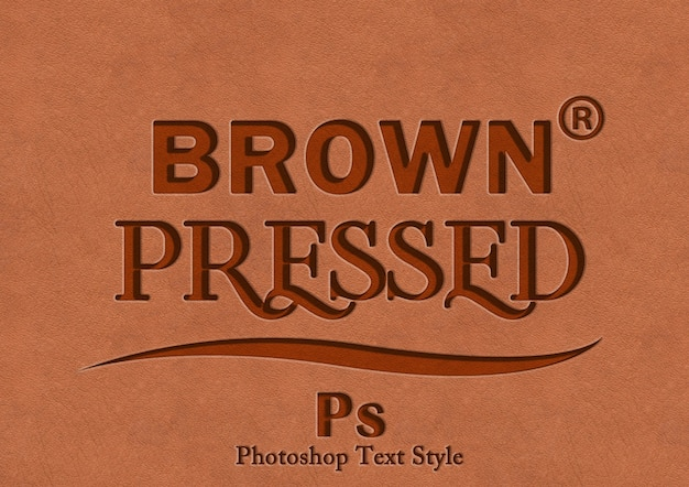 Effet de style de texte de presse brun