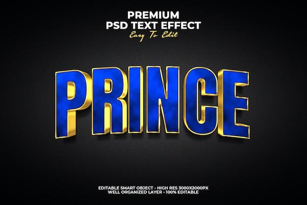 Effet de style de texte prince 3d