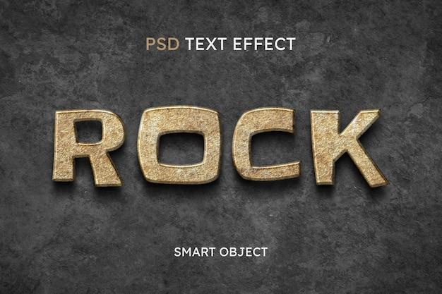 Effet de style de texte rock