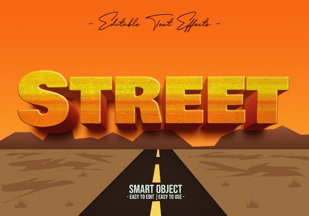 Effet de style texte de rue
