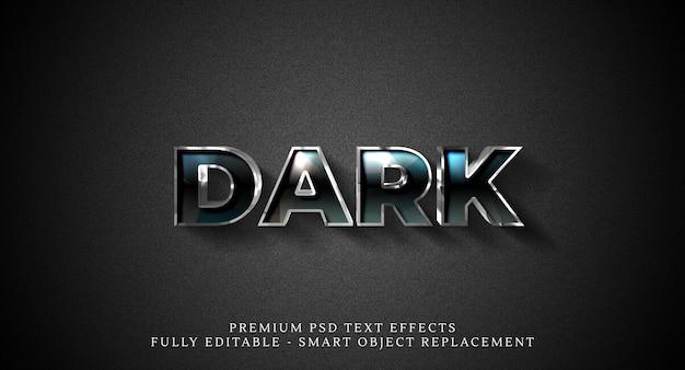 Effet de style de texte sombre psd, effets de texte psd premium