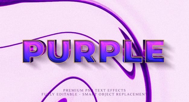 Effet de style de texte violet, effets de texte