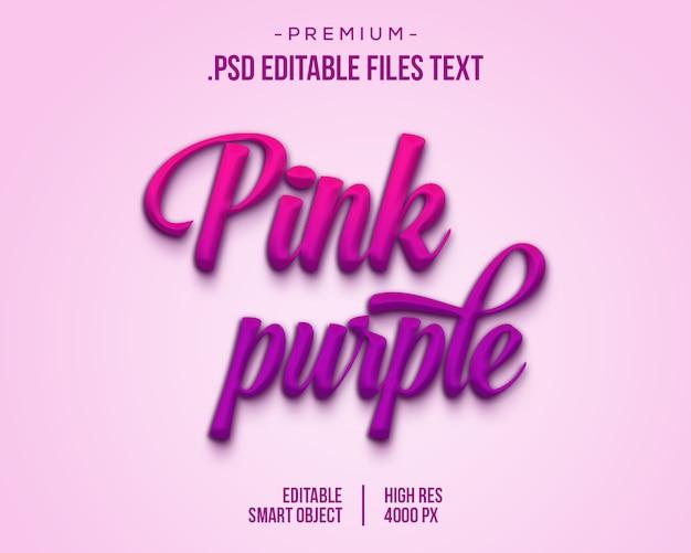 Effet de style de texte violet rose, carte de lettrage dessiné à la main, calligraphie au pinceau moderne, effet de texte d'anniversaire, ensemble effet de texte élégant anniversaire violet violet rose