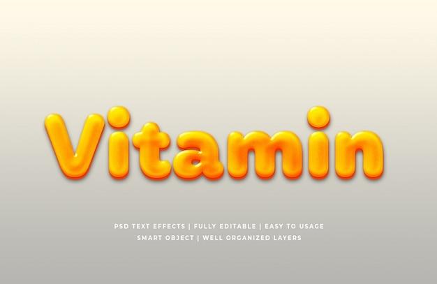 Effet de style de texte de vitamine