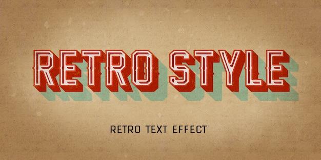 Effet de style vintage rétro avec ombre 3d