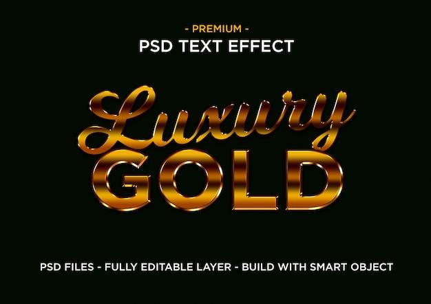 Effet de styles de texte de luxe en or