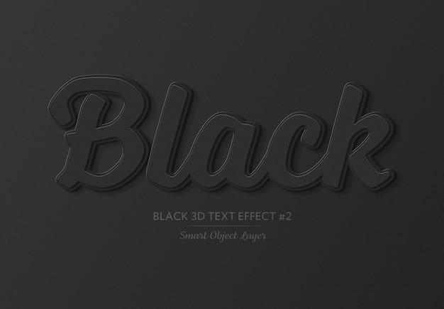 Effet de texte 3d audacieux noir
