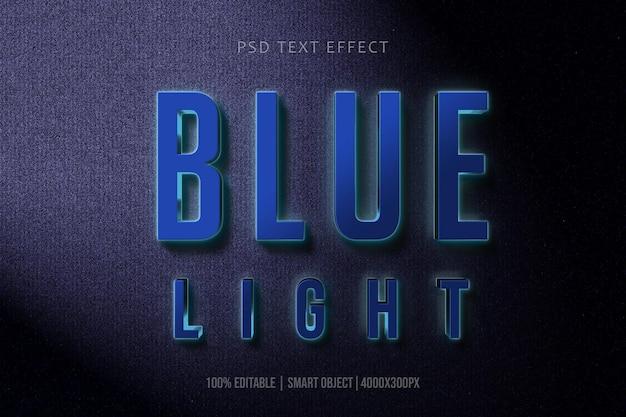 Effet de texte 3d blue colorl