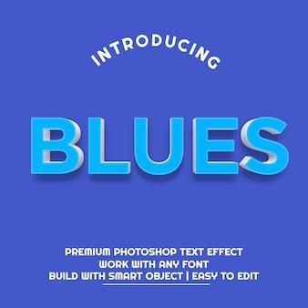 Effet de texte 3d blues premium psd