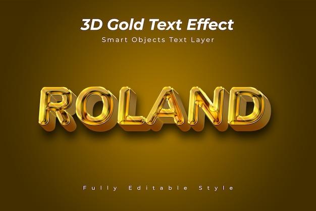 Effet de texte 3d gold
