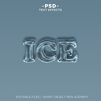 Effet de texte 3d ice