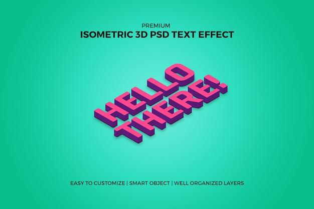 Effet de texte 3d isométrique