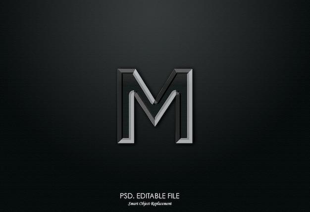 Effet de texte 3d logo m