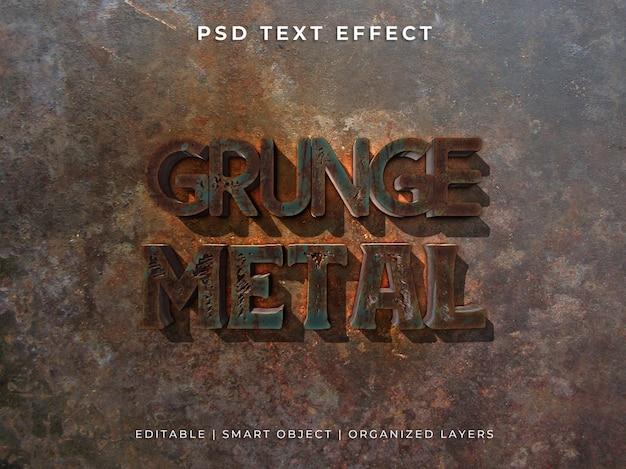 Effet de texte 3d métal grunge