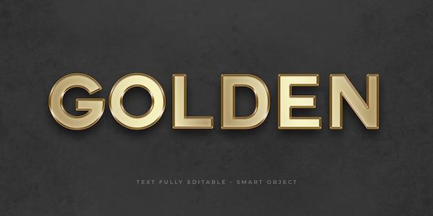 Effet de texte 3d en or