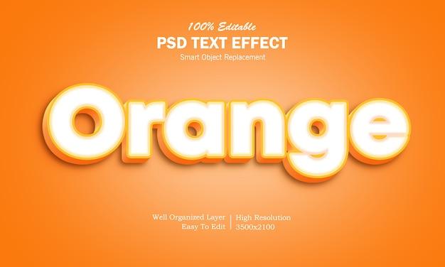 Effet de texte 3d orange