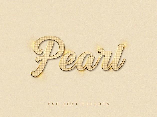 Effet de texte 3d pearl psd