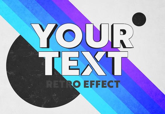 Effet de texte 3d pop rétro maquette