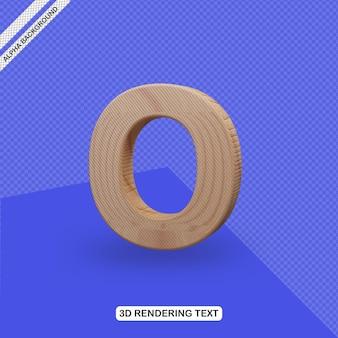 Effet de texte 3d rendu de lettre o
