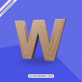 Effet de texte 3d rendu de lettre w