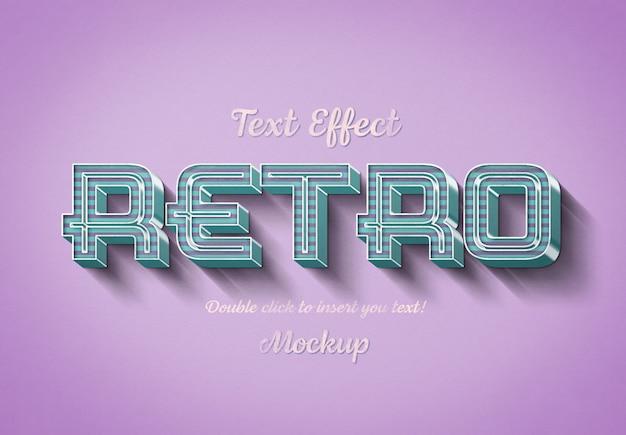 Effet de texte 3d rétro avec des rayures roses et bleues