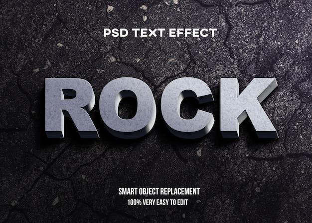 Effet de texte 3d rock