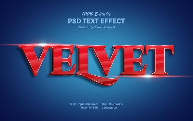 Effet de texte 3d velvet