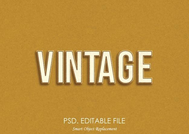 Effet de texte 3d vintage
