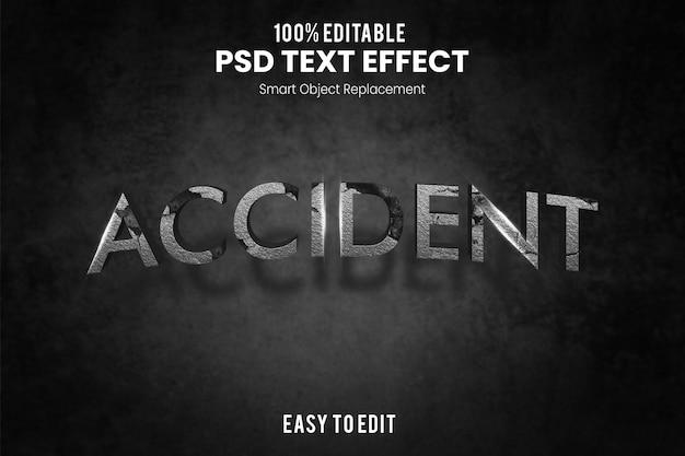 Effet de texte d'accident