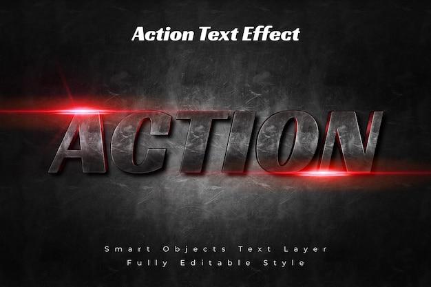 Effet de texte d'action