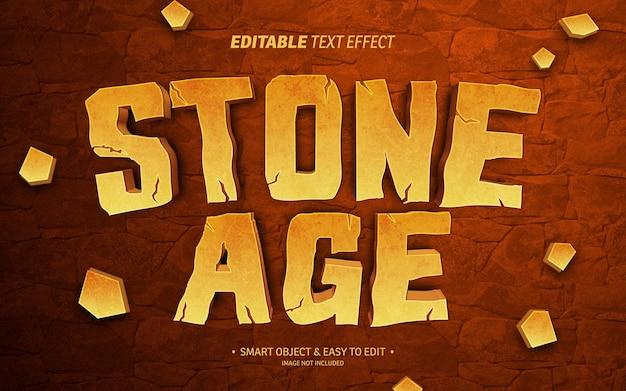 Effet de texte de l'âge de pierre