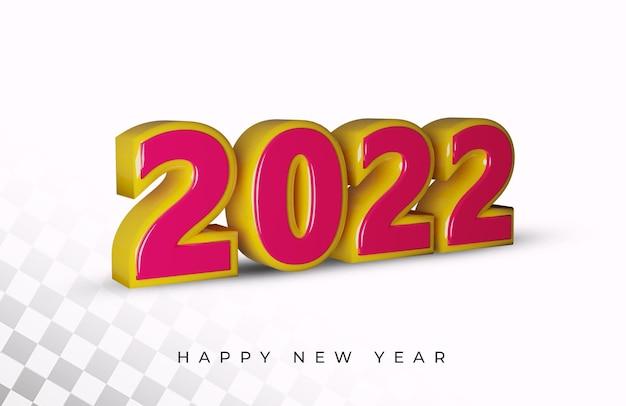 Effet de texte alphabet rendu 3d nouvel an 2021
