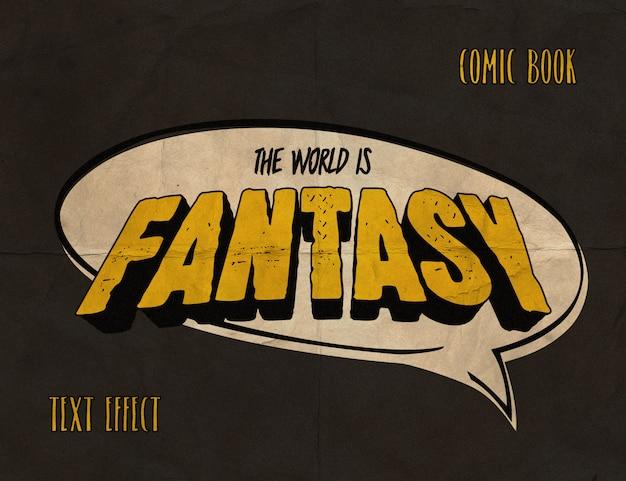 Effet de texte de bandes dessinées vintage