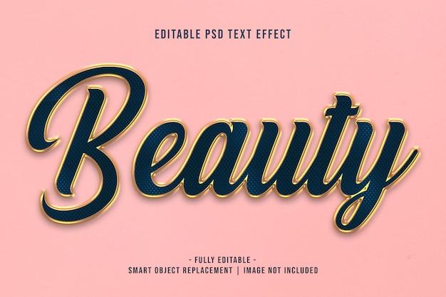 Effet de texte de beauté