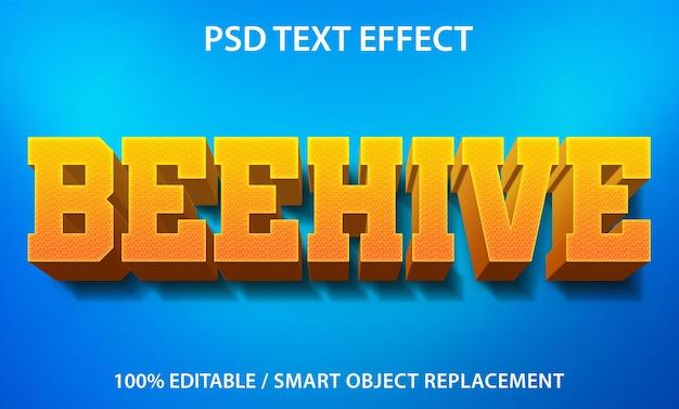 Effet de texte beehive premium