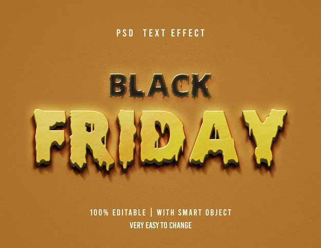 Effet de texte black friday modifiable
