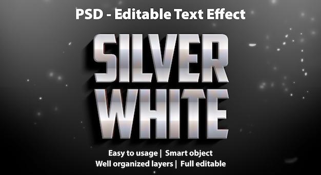 Effet de texte blanc argenté