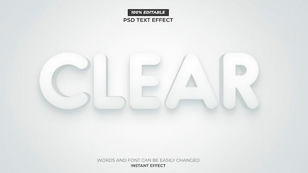 Effet de texte blanc clair