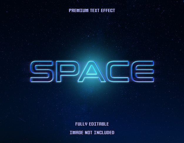 Effet de texte bleu espace