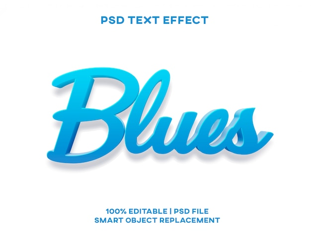 Effet de texte blues