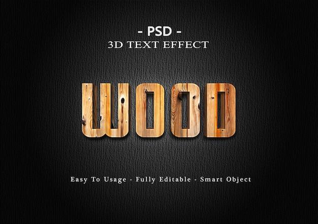 Effet de texte en bois 3d