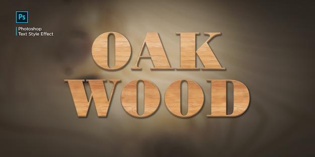 Effet de texte en bois de chêne
