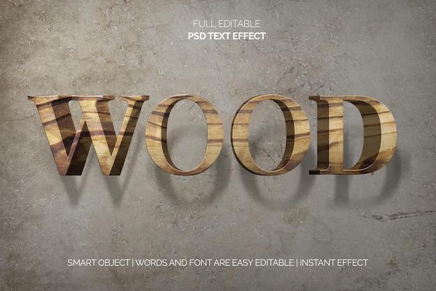 Effet de texte en bois