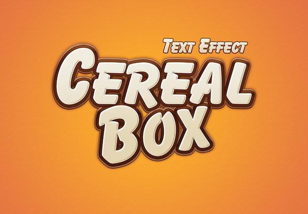 Effet de texte sur la boîte de céréales