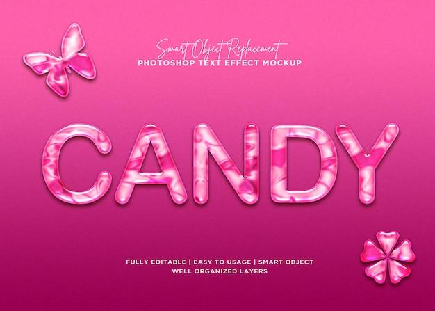 Effet de texte de bonbons style 3d