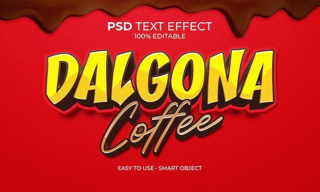 Effet de texte café dalgona